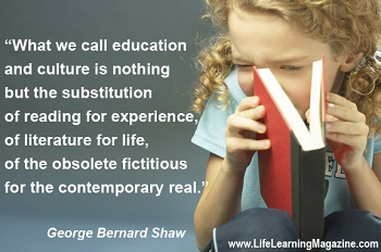 What we call education...by George Bernard Shaw